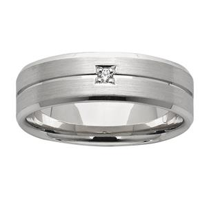 <p>7mm white gold diamond ring</p>